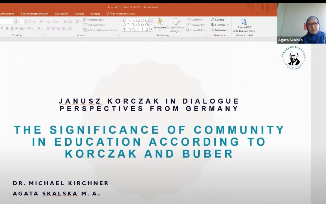 From Ich und Du to Me and Us: 'Community' According to Korczak and Buber